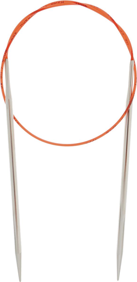 Спицы Addi, с удлиненным кончиком, круговые, цвет: серебристый, красный, диаметр 4 мм, длина 60 см775-7/4-60Спицы Addi изготовлены из латуни с никелированной поверхностью. Полые, очень легкие спицы с удлиненным кончиком скреплены мягким и гибким нейлоновым шнуром. Гладкое никелированное покрытие и тонкие переходы от спицы к шнуру позволяют петлям легче скользить. Малый вес изделия убережет ваши руки от усталости при вязании. Вы сможете вязать для себя, делать подарки друзьям. Работа, сделанная своими руками, долго будет радовать вас и ваших близких.