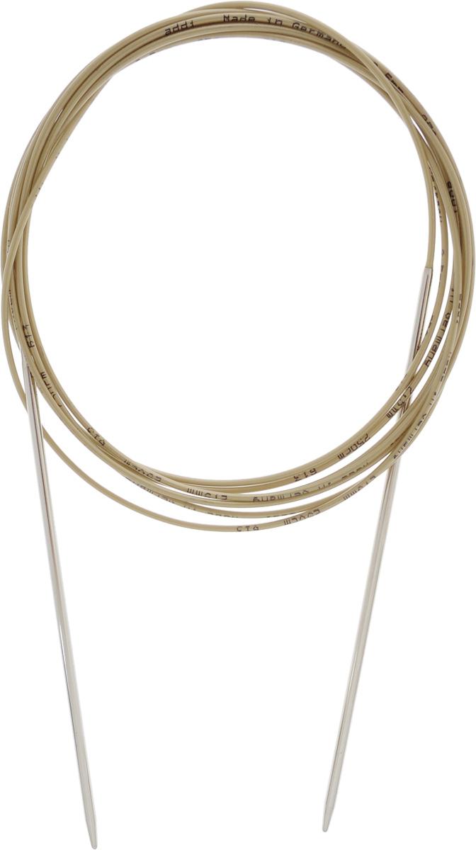 Спицы Addi, круговые, диаметр 2,5 мм, длина 250 см108-7/2.5-250Спицы Addi изготовлены из латуни с никелированной поверхностью. Полые, очень легкие спицы с удлиненным кончиком скреплены мягким и гибким нейлоновым шнуром. Гладкое никелированное покрытие и тонкие переходы от спицы к шнуру позволяют петлям легче скользить. Малый вес изделия убережет ваши руки от усталости при вязании. Вы сможете вязать для себя, делать подарки друзьям. Работа, сделанная своими руками, долго будет радовать вас и ваших близких.