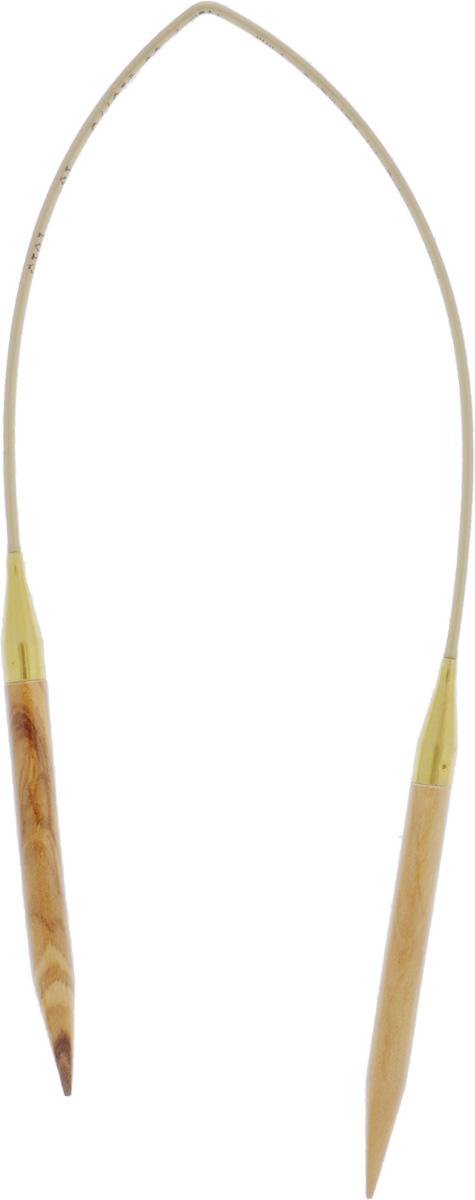 Спицы Addi, из оливкового дерева, круговые, диаметр 7,0 мм, длина 40 см575-7/7-40Спицы Addi изготовлены из оливкового дерева и скреплены гибким нейлоновым шнуром. Каждая спица из оливкового дерева уникальна своим рисунком. Изделия обработаны натуральным воском, что делает их особенно гладкими и приятными в работе. Помимо мягкости и удобства при работе эти спицы являются элементами роскоши. Вы сможете вязать для себя, делать подарки друзьям. Работа, сделанная своими руками, долго будет радовать вас и ваших близких.