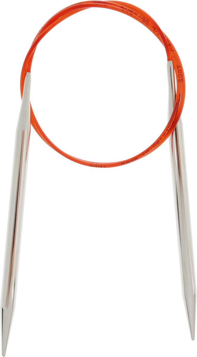 Спицы Addi, с удлиненным кончиком, круговые, цвет: серебристый, красный, диаметр 7 мм, длина 80 см775-7/7-80Спицы Addi изготовлены из латуни с никелированной поверхностью. Полые, очень легкие спицы с удлиненным кончиком скреплены мягким и гибким нейлоновым шнуром. Гладкое никелированное покрытие и тонкие переходы от спицы к шнуру позволяют петлям легче скользить. Малый вес изделия убережет ваши руки от усталости при вязании. Вы сможете вязать для себя, делать подарки друзьям. Работа, сделанная своими руками, долго будет радовать вас и ваших близких.