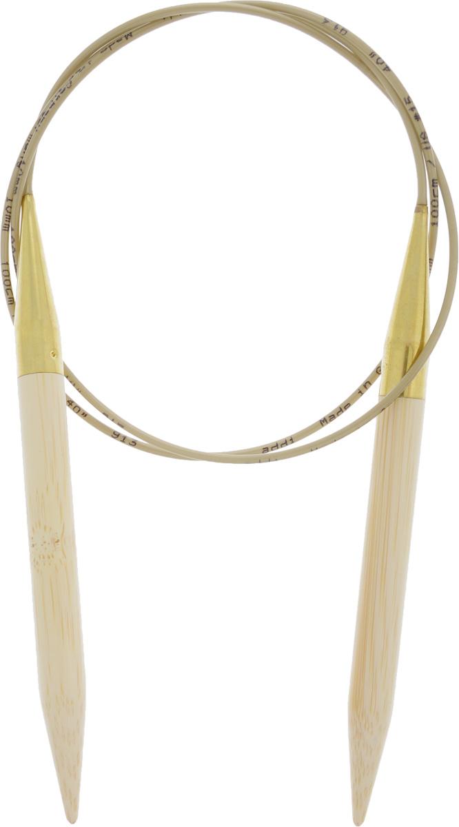 Спицы Addi, бамбуковые, круговые, диаметр 10 мм, длина 100 см555-7/10-100Спицы для вязания Addi, изготовленные из высококачественного бамбука, имеют закругленные кончики и скреплены гибким нейлоновым шнуром. Поверхность спицы обрабатывается специальным, высокотехнологичным японским воском, который закрывает поры бамбука и делает поверхность абсолютно гладкой. Спицы также прочные и легкие, поэтому руки абсолютно не устают при вязании. Круговые спицы наиболее удобны для вязания тонкой пряжей. Вы сможете вязать для себя, делать подарки друзьям. Работа, сделанная своими руками, долго будет радовать вас и ваших близких.