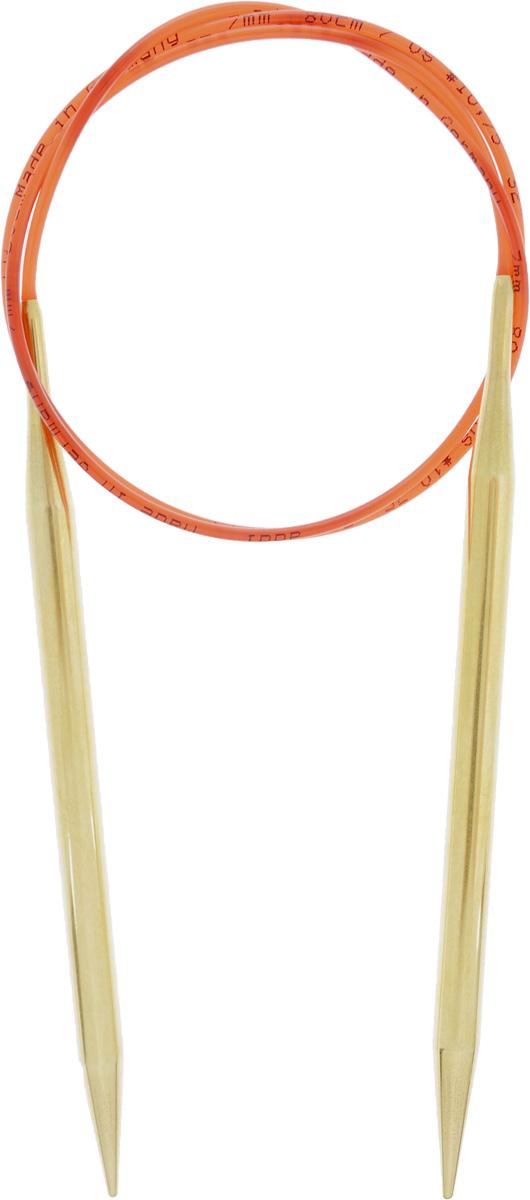Спицы Addi, с удлиненным кончиком, круговые, цвет: золотистый, красный, диаметр 7 мм, длина 80 см755-7/7-80Спицы из латуни Addi с удлиненным кончиком, скрепленные гибким нейлоновым шнуром, не содержат никель и подходят чувствительным к этому металлу людям. Поверхность спиц менее гладкая, чем никелированная, что помогает при работе со скользкой пряжей. Изделие полое и легкое, поэтому руки абсолютно не устают при вязании. Поскольку латунь является природным материалом, возможно со временем изменение цвета спиц. Вы сможете вязать для себя, делать подарки друзьям. Работа, сделанная своими руками, долго будет радовать вас и ваших близких.