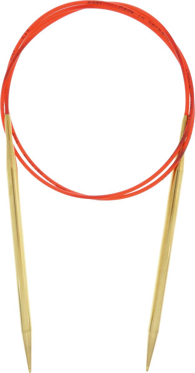 Спицы Addi, с удлиненным кончиком, круговые, цвет: золотистый, красный, диаметр 6 мм, длина 100 см755-7/6-100Спицы из латуни Addi с удлиненным кончиком, скрепленные гибким нейлоновым шнуром, не содержат никель и подходят чувствительным к этому металлу людям. Поверхность спиц менее гладкая, чем никелированная, что помогает при работе со скользкой пряжей. Изделие полое и легкое, поэтому руки абсолютно не устают при вязании. Поскольку латунь является природным материалом, возможно со временем изменение цвета спиц. Вы сможете вязать для себя, делать подарки друзьям. Работа, сделанная своими руками, долго будет радовать вас и ваших близких.