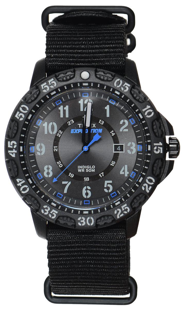 Часы наручные мужские Timex Expedition, цвет: черный. TW4B03500TW4B03500Стильные часы Timex Expedition выполнены из нержавеющей стали и минерального стекла. Циферблат оснащен запатентованной электролюминесцентной подсветкой INDIGLO, индикатором даты и оформлен символикой бренда. Корпус изделия имеет степень влагозащиты 5 Bar, оснащен кварцевым механизмом и дополнен устойчивым к царапинам минеральным стеклом. Ремешок современного дизайна выполнен из нейлона и оснащен пряжкой, которая позволит с легкостью снимать и надевать изделие. Часы поставляются в фирменной упаковке. Часы Timex подчеркнут мужской характер и отменное чувство стиля их обладателя.