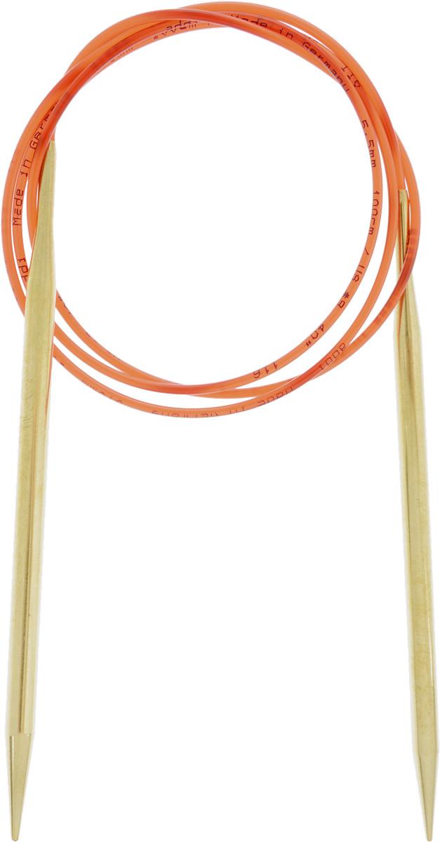 Спицы Addi, с удлиненным кончиком, круговые, цвет: золотистый, красный, диаметр 5,5 мм, длина 100 см755-7/5.5-100Спицы из латуни Addi с удлиненным кончиком, скрепленные гибким нейлоновым шнуром, не содержат никель и подходят чувствительным к этому металлу людям. Поверхность спиц менее гладкая, чем никелированная, что помогает при работе со скользкой пряжей. Изделие полое и легкое, поэтому руки абсолютно не устают при вязании. Поскольку латунь является природным материалом, возможно со временем изменение цвета спиц. Вы сможете вязать для себя, делать подарки друзьям. Работа, сделанная своими руками, долго будет радовать вас и ваших близких.