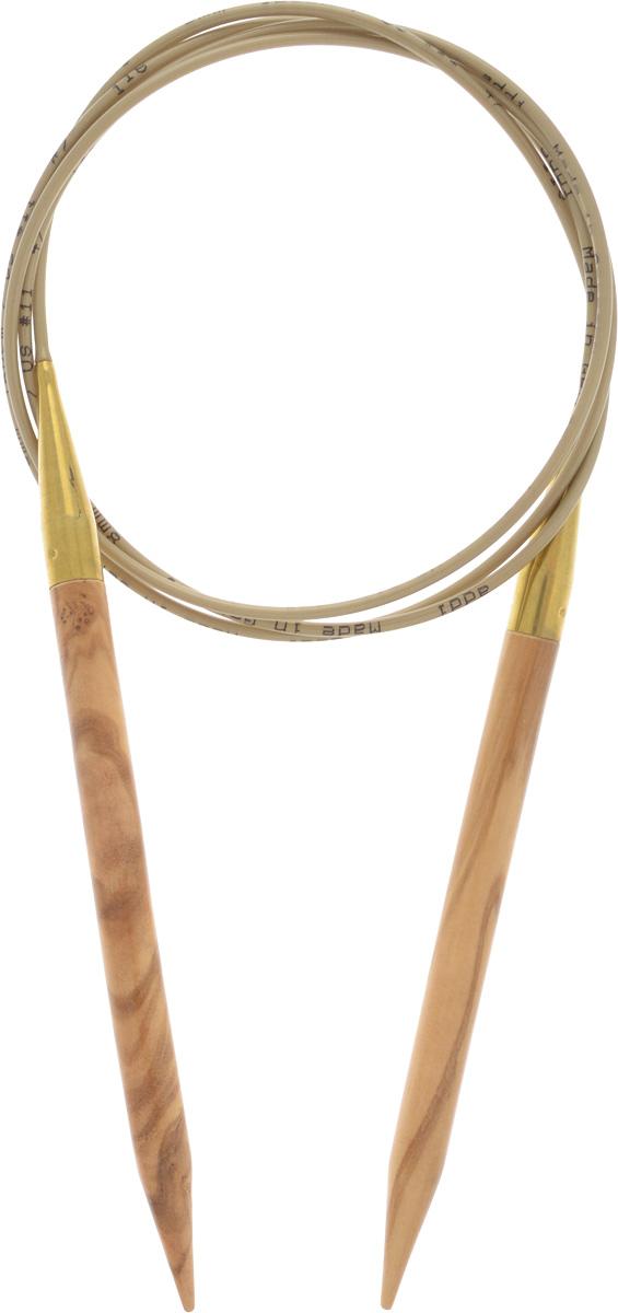 Спицы Addi, из оливкового дерева, круговые, диаметр 8,0 мм, длина 120 см575-7/8-120Спицы Addi изготовлены из оливкового дерева и скреплены гибким нейлоновым шнуром. Каждая спица из оливкового дерева уникальна своим рисунком. Изделия обработаны натуральным воском, что делает их особенно гладкими и приятными в работе. Помимо мягкости и удобства при работе эти спицы являются элементами роскоши. Вы сможете вязать для себя, делать подарки друзьям. Работа, сделанная своими руками, долго будет радовать вас и ваших близких.