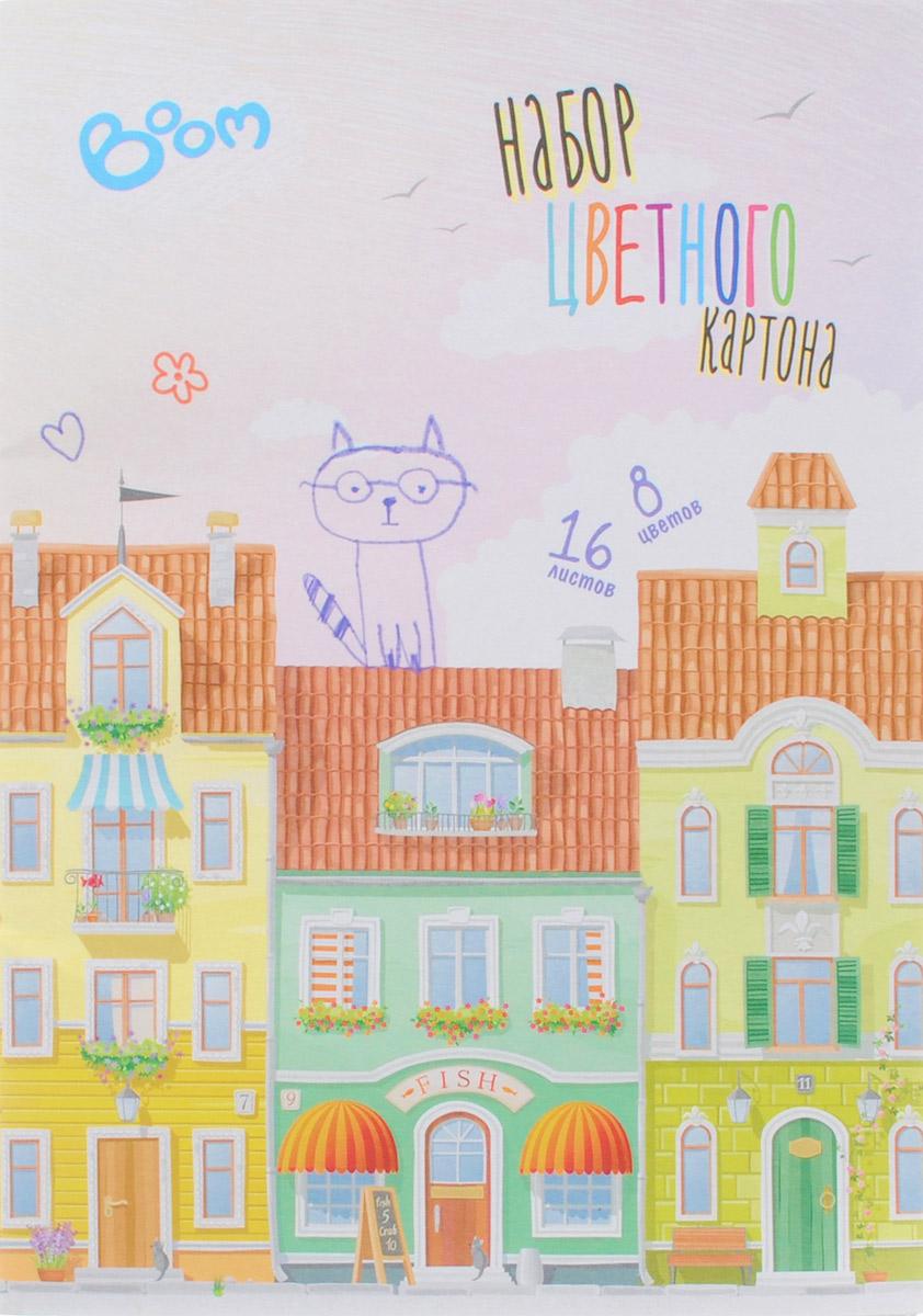 Boom Цветной картон Studio 8 цветов 16 листовBS-CCS12/04Набор цветного картона Studio позволит создавать всевозможные аппликации и поделки. Набор упакован в картонную папку с изображением цветных домиков на голубом фоне. Набор включает 16 листов одностороннего цветного картона формата А4. Цвета: желтый, красный, пурпурный, зеленый, синий, белый, оранжевый, черный. Создание поделок из цветного картона позволяет ребенку развивать творческие способности, кроме того, это увлекательный досуг.