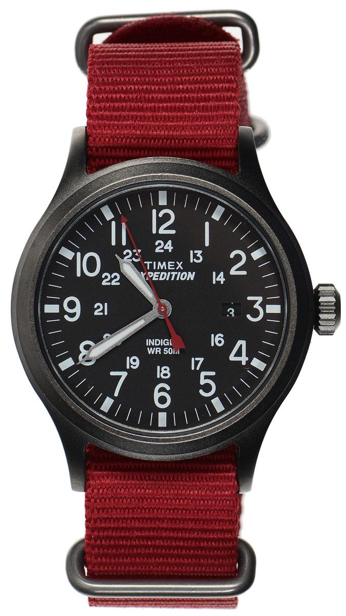 Часы наручные мужские Timex Expedition, цвет: красный, серый. TW4B04500TW4B04500Стильные часы Timex Expedition выполнены из нержавеющей стали и минерального стекла. Циферблат оснащен запатентованной электролюминесцентной подсветкой INDIGLO, индикатором даты и оформлен символикой бренда. Корпус изделия имеет степень влагозащиты 5 Bar, оснащен кварцевым механизмом и дополнен устойчивым к царапинам минеральным стеклом. На стрелки нанесен светящийся состав. Ремешок современного дизайна выполнен из нейлона и оснащен пряжкой, которая позволит с легкостью снимать и надевать изделие. Часы поставляются в фирменной упаковке. Часы Timex подчеркнут мужской характер и отменное чувство стиля их обладателя.