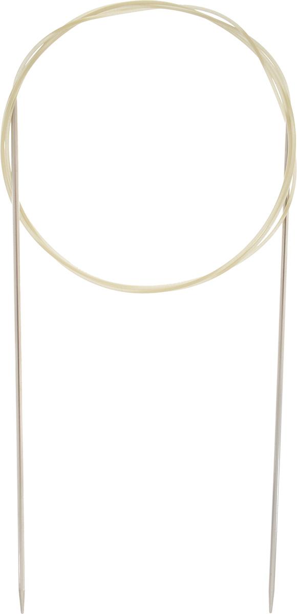 Спицы Addi, с удлиненным кончиком, круговые, цвет: серебристый, золотистый, диаметр 1,75 мм, длина 100 см715-7/1.75-100Спицы Addi изготовлены из латуни с никелированной поверхностью. Полые, очень легкие спицы с удлиненным кончиком скреплены мягким и гибким нейлоновым шнуром. Гладкое никелированное покрытие и тонкие переходы от спицы к шнуру позволяют петлям легче скользить. Малый вес изделия убережет ваши руки от усталости при вязании. Вы сможете вязать для себя, делать подарки друзьям. Работа, сделанная своими руками, долго будет радовать вас и ваших близких.