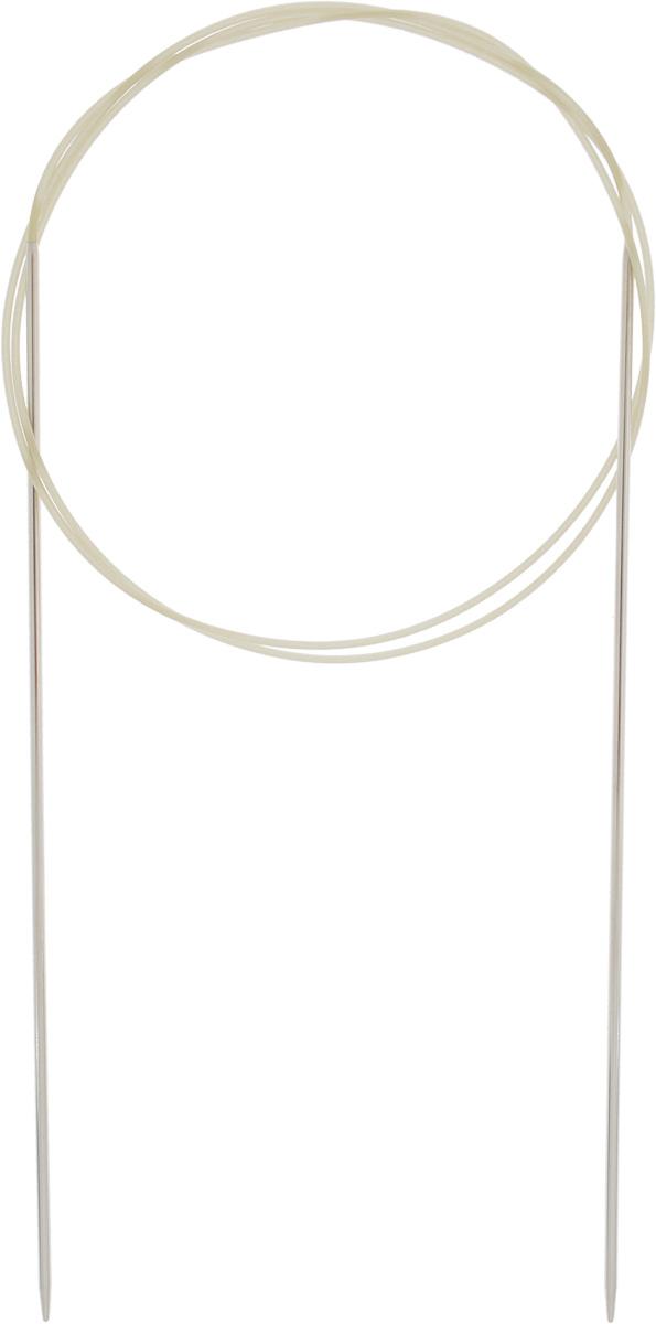 Спицы Addi, с удлиненным кончиком, круговые, цвет: серебристый, золотистый, диаметр 1,5 мм, длина 80 см715-7/1.5-80Спицы Addi изготовлены из латуни с никелированной поверхностью. Полые, очень легкие спицы с удлиненным кончиком скреплены мягким и гибким нейлоновым шнуром. Гладкое никелированное покрытие и тонкие переходы от спицы к шнуру позволяют петлям легче скользить. Малый вес изделия убережет ваши руки от усталости при вязании. Вы сможете вязать для себя, делать подарки друзьям. Работа, сделанная своими руками, долго будет радовать вас и ваших близких.