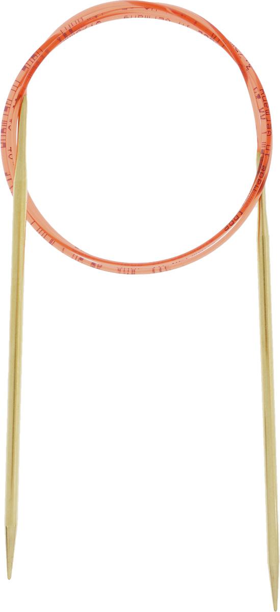 Спицы Addi, с удлиненным кончиком, круговые, цвет: золотистый, красный, диаметр 3,75 мм, длина 100 см755-7/3.75-100Спицы из латуни Addi с удлиненным кончиком, скрепленные гибким нейлоновым шнуром, не содержат никель и подходят чувствительным к этому металлу людям. Поверхность спиц менее гладкая, чем никелированная, что помогает при работе со скользкой пряжей. Изделие полое и легкое, поэтому руки абсолютно не устают при вязании. Поскольку латунь является природным материалом, возможно со временем изменение цвета спиц. Вы сможете вязать для себя, делать подарки друзьям. Работа, сделанная своими руками, долго будет радовать вас и ваших близких.