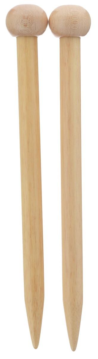 Спицы Addi, бамбуковые, прямые, диаметр 15 мм, длина 25 см, 2 шт500-7/15-25Спицы для вязания Addi изготовлены из бамбука. Поверхность спицы обрабатывается специальным, высокотехнологичным японским воском, который закрывает поры бамбука и делает поверхность абсолютно гладкой. Спицы прочные, легкие, гладкие, удобные в использовании. Ограничители препятствуют соскальзыванию петель. Прямые спицы используются при плоском вязании отдельных деталей, которые впоследствии будут сшиты в цельное изделие. Спицы Addi идеальны для людей с аллергией на металл и их едва слышно при вязании. Вы сможете вязать для себя и делать подарки друзьям. Рукоделие всегда считалось изысканным, благородным делом. Работа, сделанная своими руками, долго будет радовать вас и ваших близких.