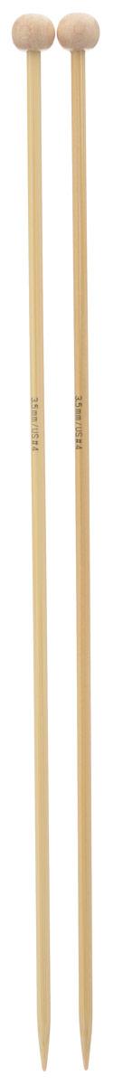 Спицы Addi, бамбуковые, прямые, диаметр 3,5 мм, длина 25 см, 2 шт500-7/3.5-25Спицы для вязания Addi изготовлены из бамбука. Поверхность спицы обрабатывается специальным, высокотехнологичным японским воском, который закрывает поры бамбука и делает поверхность абсолютно гладкой. Спицы прочные, легкие, гладкие, удобные в использовании. Ограничители препятствуют соскальзыванию петель. Прямые спицы используются при плоском вязании отдельных деталей, которые впоследствии будут сшиты в цельное изделие. Спицы Addi идеальны для людей с аллергией на металл и их едва слышно при вязании. Вы сможете вязать для себя и делать подарки друзьям. Рукоделие всегда считалось изысканным, благородным делом. Работа, сделанная своими руками, долго будет радовать вас и ваших близких.