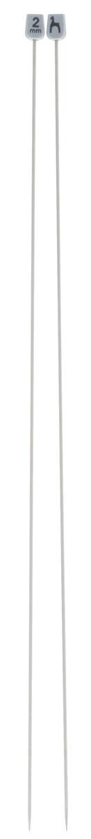 Спицы Pony, металлические, прямые, диаметр 2 мм, длина 40 см, 2 шт34201Спицы для вязания Pony, изготовленные из алюминия, обладают прекрасными тактильными качествами и благородным серебристо-матовым цветом. На кончиках в качестве стопперов есть пластиковые прямоугольники с нанесенным на них фирменным логотипом Pony. Прямые спицы используются при плоском вязании отдельных деталей, которые впоследствии будут сшиты в цельное изделие. Вы сможете вязать для себя и делать подарки друзьям. Рукоделие всегда считалось изысканным, благородным делом. Работа, сделанная своими руками, долго будет радовать вас и ваших близких.