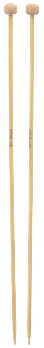 Спицы Addi, бамбуковые, прямые, диаметр 3,25 мм, длина 25 см, 2 шт500-7/3.25-25Спицы для вязания Addi изготовлены из бамбука. Поверхность спицы обрабатывается специальным, высокотехнологичным японским воском, который закрывает поры бамбука и делает поверхность абсолютно гладкой. Спицы прочные, легкие, гладкие, удобные в использовании. Ограничители препятствуют соскальзыванию петель. Прямые спицы используются при плоском вязании отдельных деталей, которые впоследствии будут сшиты в цельное изделие. Спицы Addi идеальны для людей с аллергией на металл и их едва слышно при вязании. Вы сможете вязать для себя и делать подарки друзьям. Рукоделие всегда считалось изысканным, благородным делом. Работа, сделанная своими руками, долго будет радовать вас и ваших близких.