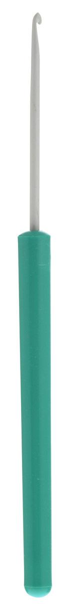 Крючок для вязания Pony, цвет: серый, зеленый, диаметр 2 мм, длина 14 см46201Крючок Pony выполнен из алюминия и оснащен пластиковой ручкой. Крючок предназначен для вязания и плетения из ниток, ручного изготовления полотна. Идеально гладкая головка и стержень крючка обеспечивают равномерное скольжение петель. Эргономичная, приятная на ощупь рукоятка обеспечивает удобное и безопасное вязание без усталости. Вязание крючком применяют как для изготовления одежды целиком, так и отделочных элементов одежды или украшений. Вы сможете вязать для себя и делать подарки друзьям. Рукоделие всегда считалось изысканным, благородным делом. Работа, сделанная своими руками, долго будет радовать вас и ваших близких. Подарок, выполненный собственноручно, станет самым ценным для друзей и знакомых.