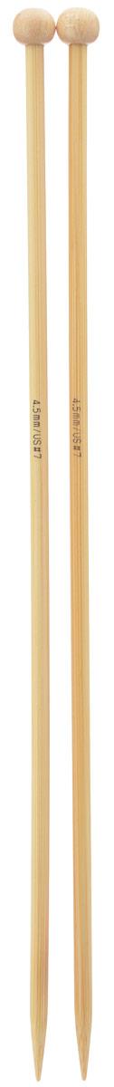 Спицы Addi, бамбуковые, прямые, диаметр 4,5 мм, длина 25 см, 2 шт500-7/4.5-25Спицы для вязания Addi изготовлены из бамбука. Поверхность спицы обрабатывается специальным, высокотехнологичным японским воском, который закрывает поры бамбука и делает поверхность абсолютно гладкой. Спицы прочные, легкие, гладкие, удобные в использовании. Ограничители препятствуют соскальзыванию петель. Прямые спицы используются при плоском вязании отдельных деталей, которые впоследствии будут сшиты в цельное изделие. Спицы Addi идеальны для людей с аллергией на металл и их едва слышно при вязании. Вы сможете вязать для себя и делать подарки друзьям. Рукоделие всегда считалось изысканным, благородным делом. Работа, сделанная своими руками, долго будет радовать вас и ваших близких.