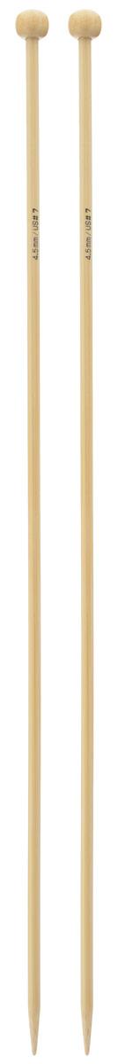 Спицы Addi, бамбуковые, прямые, диаметр 4,5 мм, длина 35 см, 2 шт500-7/4.5-035Спицы для вязания Addi изготовлены из бамбука. Поверхность спицы обрабатывается специальным, высокотехнологичным японским воском, который закрывает поры бамбука и делает поверхность абсолютно гладкой. Спицы прочные, легкие, гладкие, удобные в использовании. Ограничители препятствуют соскальзыванию петель. Прямые спицы используются при плоском вязании отдельных деталей, которые впоследствии будут сшиты в цельное изделие. Спицы Addi идеальны для людей с аллергией на металл и их едва слышно при вязании. Вы сможете вязать для себя и делать подарки друзьям. Рукоделие всегда считалось изысканным, благородным делом. Работа, сделанная своими руками, долго будет радовать вас и ваших близких.