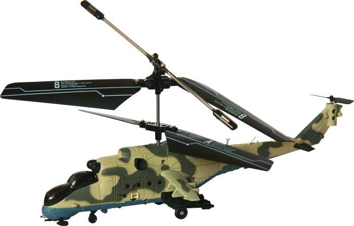 SPL Вертолет на радиоуправлении SPL 180IG140SPL 180 — это 3-х канальный вертолет с гироскопом на ИК управлении, что позволяет ему летать летать вверх и вниз, вперед и назад. Гироскоп придает стабильность полета модели. Отличительной чертой модели является имитация боевого прототипа, а также яркий белый светодиод в носовой части, имитирующий прожектор. Это уже второй вертолет в военной серии. В комплекте: вертолет 3-х канальный передатчик с функцией зарядки инструкция отвертка кабель USB для зарядки запасные лопасти запасной задний винт