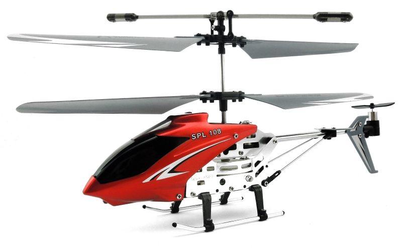 SPL Вертолет на радиоуправлении SPL 108IG193Вертолет SPL 108 это 3-х канальный вертолет с гироскопом на ИК управлении. Оригинальная конструкция с элементами металлической рамы и небольшой вес модели позволяют вертолету не бояться столкновений с препятствиями. Управление с помощью хвостового винта позволяет разнообразить полет модели и значительно расширить ее возможности. Вертолет оснащён встроенным аккумулятором, который заряжается непосредственно от передатчика. В комплекте: Вертолет SPL 108 на ИК управлении передатчик с функцией зарядки инструкция кабель USB для зарядки запасные лопасти запасной задний винт