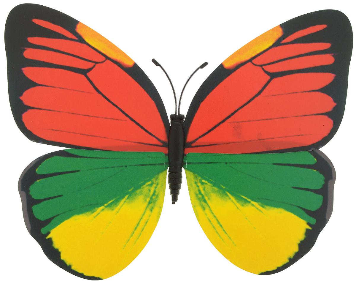 Декоративное украшение Village people Тропическая бабочка, с магнитом, цвет: красный, зеленый, желтый (15), 12 х 8 см68610_15Декоративная фигурка Village People Тропическая бабочка, изготовленная из ПВХ и магнита, это не только красивое украшение, но и замечательный способ отпугнуть птиц с грядок. Изделие выполнено в виде бабочки и оснащено магнитом, с помощью которого вы сможете поместить изделие в любом удобном для вас месте. Яркий дизайн изделия оживит ландшафт сада.