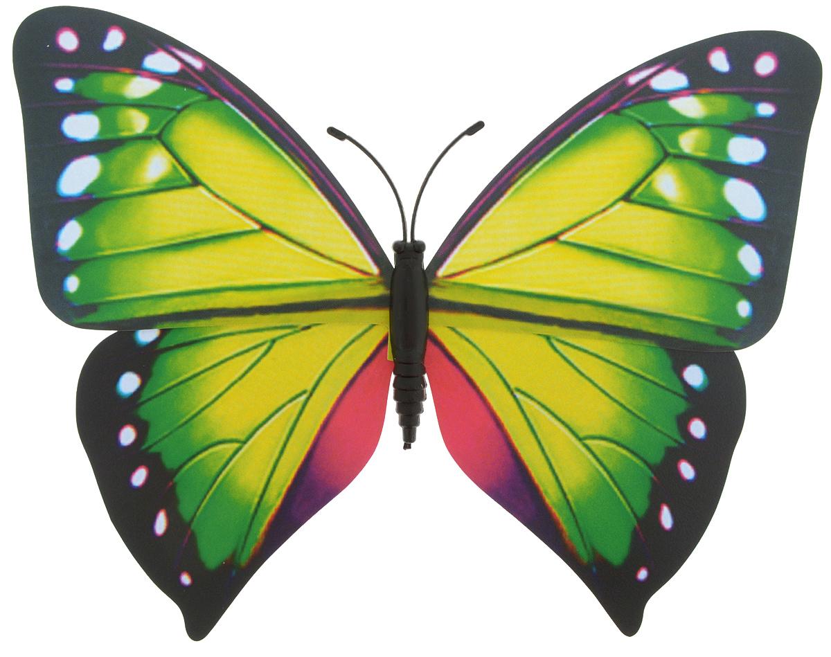 Декоративное украшение Village people Тропическая бабочка, с магнитом, цвет: зеленый, болотный (18), 12 х 8 см68610_18Декоративная фигурка Village People Тропическая бабочка, изготовленная из ПВХ и магнита, это не только красивое украшение, но и замечательный способ отпугнуть птиц с грядок. Изделие выполнено в виде бабочки и оснащено магнитом, с помощью которого вы сможете поместить изделие в любом удобном для вас месте. Яркий дизайн изделия оживит ландшафт сада.