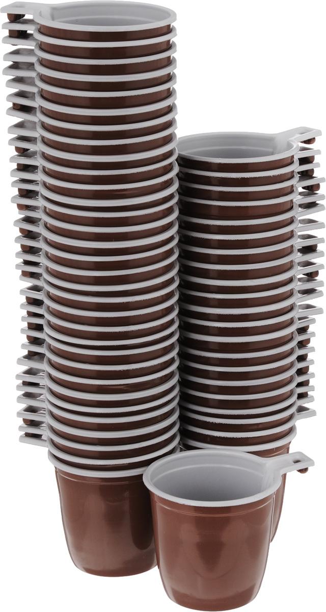 Набор одноразовых кофейных чашек МОПС, 200 мл, 50 штукПОС08067Набор МОПС состоит из 100 круглых кофейных чашек, выполненных из пищевого пластика и предназначенных для одноразового использования. Изделия оснащены ручками для более удобного использования. Одноразовые чашки будут незаменимы при поездках на природу, пикниках и других мероприятиях. Они не займут много места, легки и самое главное - после использования их не надо мыть. Диаметр (по верхнему краю): 7,5 см. Ширина с учетом ручки: 10 см. Высота: 7 см. Объем: 200 мл.