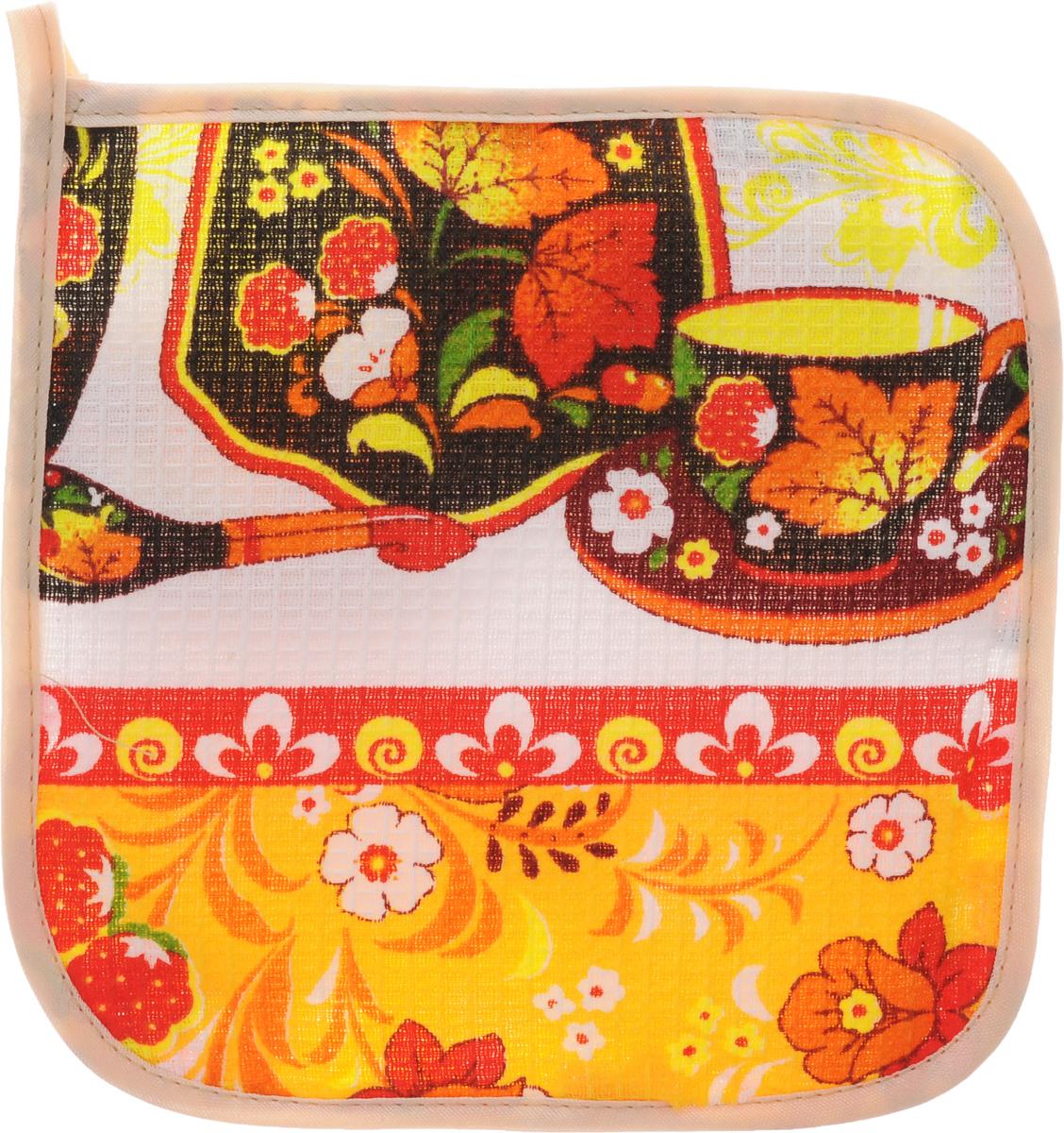 Прихватка Roko, 17 х 17 см. 115358115358Прихватка Roko - незаменимый помощник на любой кухне. Изделие выполнено натурального 100% хлопка и оформлено красочным принтом. Прихватка мягкая, удобная и практичная. Она защитит ваши руки и предотвратит появление ожогов. Оригинальный дизайн позволит красиво дополнить интерьер кухни. С помощью текстильной петельки прихватку можно подвесить на крючок. Уважаемые клиенты! Товар поставляется в цветовом ассортименте. Поставка осуществляется в зависимости от наличия на складе.