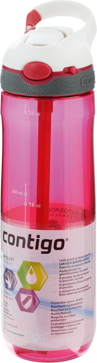 Бутылка для воды Contigo Ashland, цвет: белый, серый, розовый, 720 млcontigo0456Бутылка для воды Contigo Ashland изготовлена из высококачественного прозрачного пластика, безопасного для здоровья. Закручивающаяся крышка с герметичным клапаном для питья обеспечивает защиту от проливания. Оптимальный объем бутылки позволяет взять небольшую порцию напитка. Она легко помещается в сумке или рюкзаке и всегда будет под рукой. Изделие имеет мерную шкалу, которая позволит контролировать количество жидкости. Такая идеальная бутылка небольшого размера, но отличной вместимости наполняет оптимизмом, даря заряд позитива и хорошего настроения. Бутылка для воды Contigo Ashland - отличное решение для прогулки, пикника, автомобильной поездки, занятий спортом и фитнесом. Высота бутылки (с учетом крышки): 26,5 см. Диаметр дна: 6,5 см.