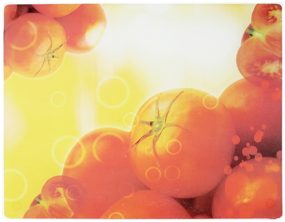 Доска разделочная Mayer & Boch Помидоры, 40 x 30 см3499_помидорыРазделочная доска Mayer & Boch Помидоры, выполненная из высококачественного стекла, устойчива к повреждениям и не впитывает запахи. Она идеально подходит для разделки мяса, рыбы, приготовления теста и для нарезки любых продуктов. Гладкая поверхность предотвратит появление разводов, царапин и появление бактерий. Изделие оснащено силиконовыми ножками для предотвращения скольжения. Разделочная доска Mayer & Boch Помидоры станет незаменимым аксессуаром на любой кухне.