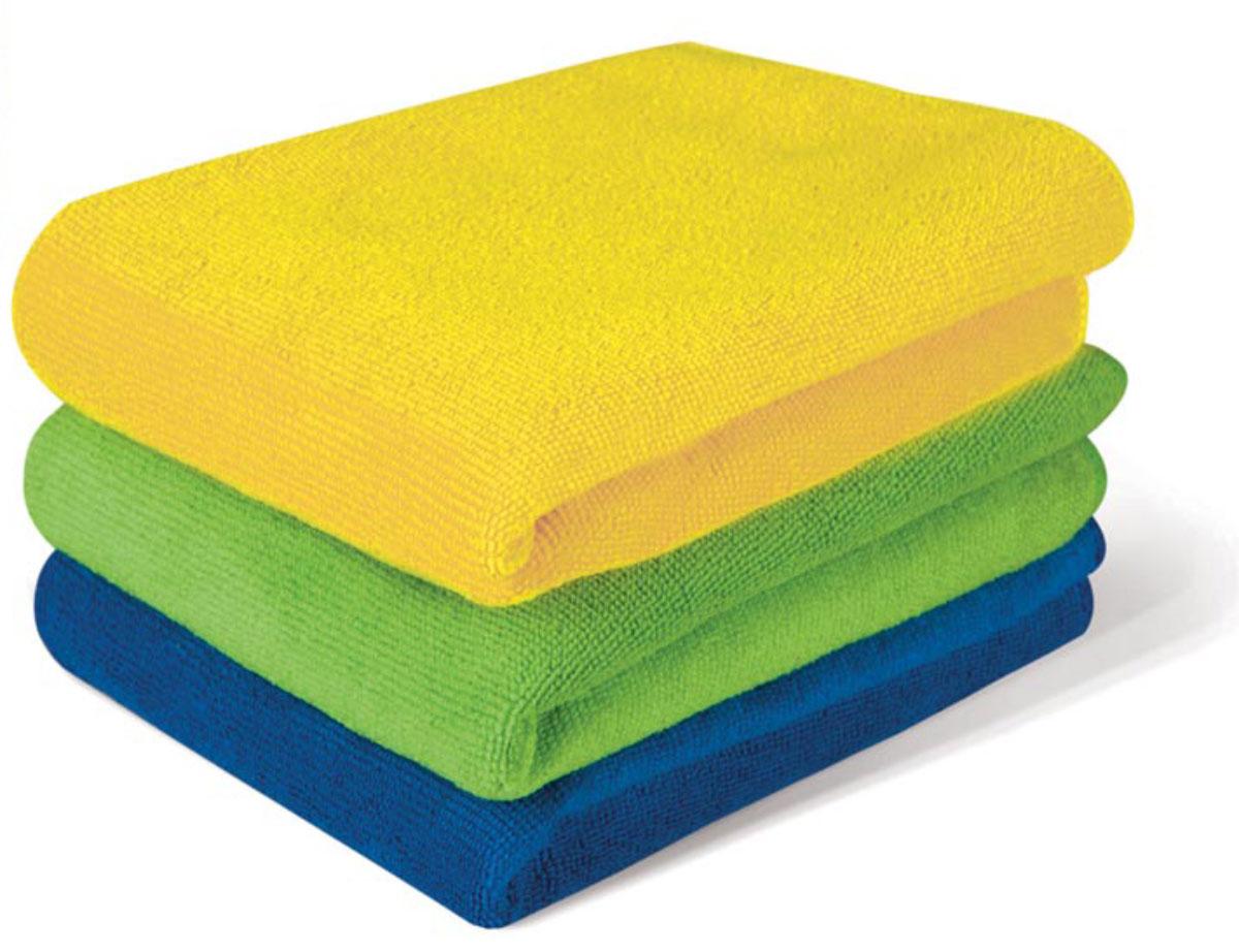 Набор кухонных полотенец Soavita, цвет: синий, зеленый, желтый, 40 х 60 см, 3 шт63874Махровое полотно создается из хлопковых нитей, которые, в свою очередь, прядутся из множества хлопковых волокон. Чем длиннее эти волокна, тем прочнее будет нить, и, соответственно, изделие. Длина составляющих хлопковую нить волокон влияет и на фактуру получаемой ткани: чем они длиннее, тем мягче и пушистее получится махровое изделие, тем лучше будет впитывать изделие воду. Хотя на впитывающие качество махры – ее гигроскопичность, не в последнюю очередь влияет состав волокна. Мягкая махровая ткань отлично впитывает влагу и быстро сохнет. Soavita – это популярный бренд домашнего текстиля. Дизайнерская студия этой фирмы находится во Флоренции, Италия. Производство перенесено в Китай, чтобы сделать продукцию более доступной для покупателей. Таким образом, вы имеете возможность покупать продукцию европейского качества совсем не дорого. Домашний текстиль прослужит вам долго: все детали качественно прошиты, ткани очень плотные, рисунок наносится безопасными для здоровья красителями, не...