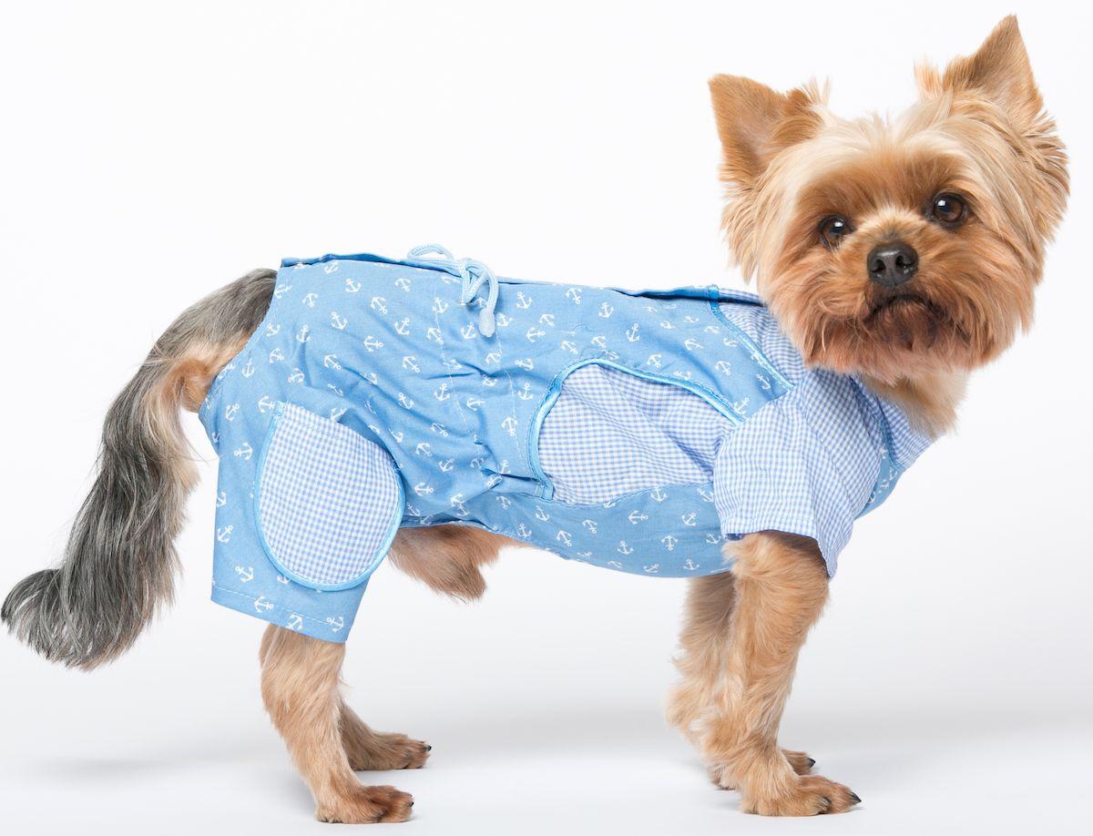 Комбинезон для собак Yoriki Юнга, для мальчика. 383-12. Размер М383-12Обхват шеи: 25 см. Обхват груди: 39 см. Длина спины: 24 см.