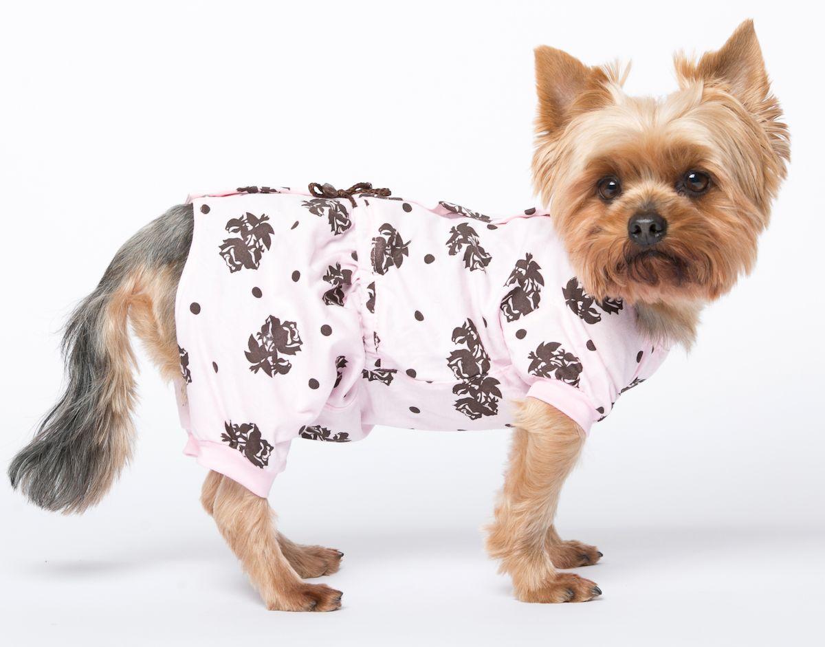 Комбинезон для собак Yoriki Розы, для девочки. Размер L400-23Обхват шеи: 27-31 см. Длина по спинке: 29 см. Объем груди: 41-47 см.