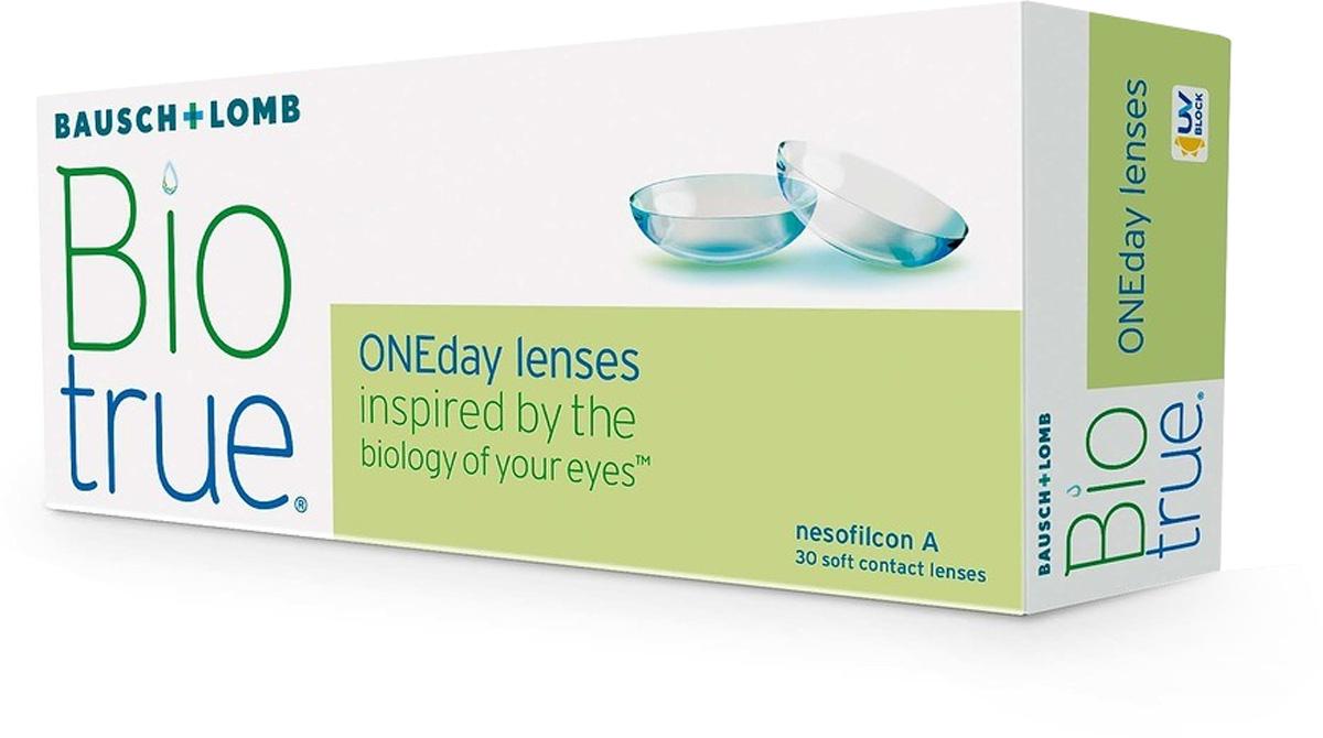 Bausch + Lomb контактные линзы Biotrue ONEday / 8.6 / -4.0031746387Мягкие контактные линзы