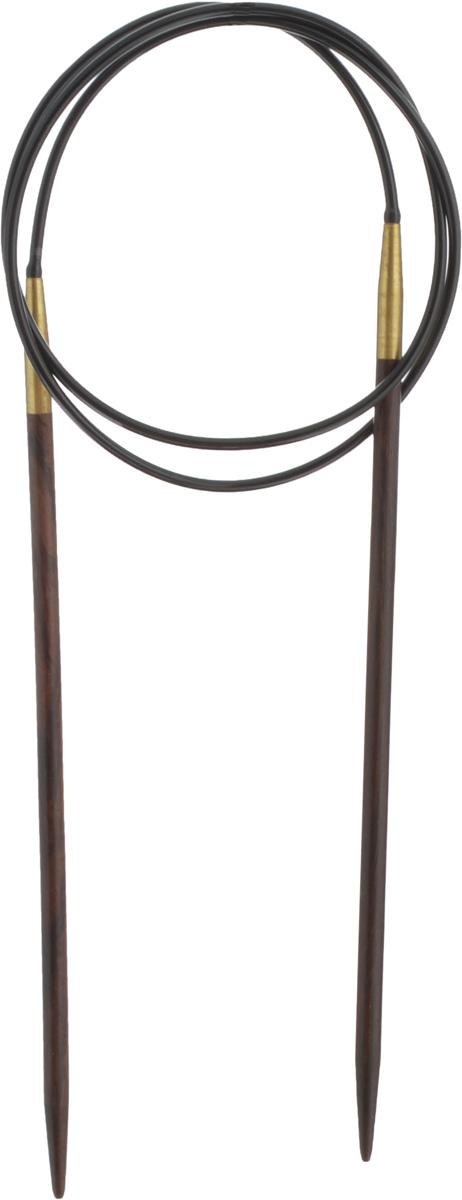 Спицы Pony, деревянные, круговые, диаметр 4 мм, длина 80 см, 2 шт50909-02Спицы для вязания Pony, изготовленные из розового дерева, имеют закругленные кончики и скреплены гибким пластиковым неснимаемым шнуром. Они прочные, легкие, гладкие, удобные в использовании. Круговые спицы наиболее удобны для выполнения деталей и изделий, не имеющих швов. Короткими круговыми спицами вяжут бейки горловины, воротники-гольф, длинными спицами можно вязать по кругу целые модели. Вы сможете вязать для себя, делать подарки друзьям. Рукоделие всегда считалось изысканным, благородным делом. Работа, сделанная своими руками, долго будет радовать вас и ваших близких.