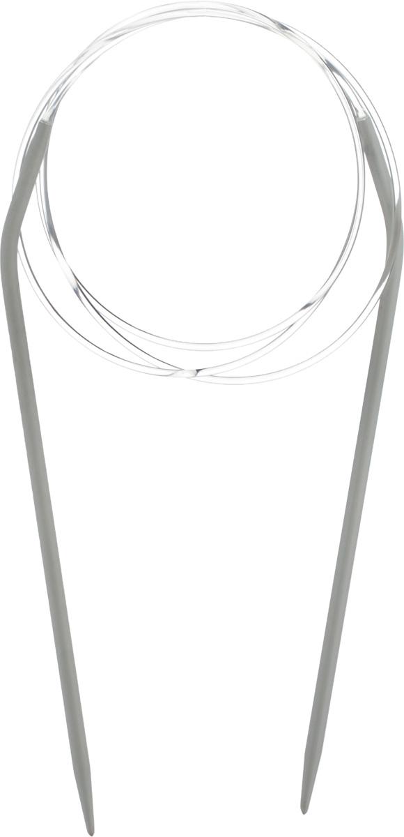 Спицы Pony, металлические, круговые, диаметр 3,5 мм, длина 100 см, 2 шт52207Спицы для вязания Pony, изготовленные из алюминия, имеют закругленные кончики и скреплены гибким пластиковым неснимаемым шнуром. Они прочные, легкие, гладкие, удобные в использовании. Круговые спицы наиболее удобны для выполнения деталей и изделий, не имеющих швов. Короткими круговыми спицами вяжут бейки горловины, воротники-гольф, длинными спицами можно вязать по кругу целые модели. Вы сможете вязать для себя, делать подарки друзьям. Рукоделие всегда считалось изысканным, благородным делом. Работа, сделанная своими руками, долго будет радовать вас и ваших близких.