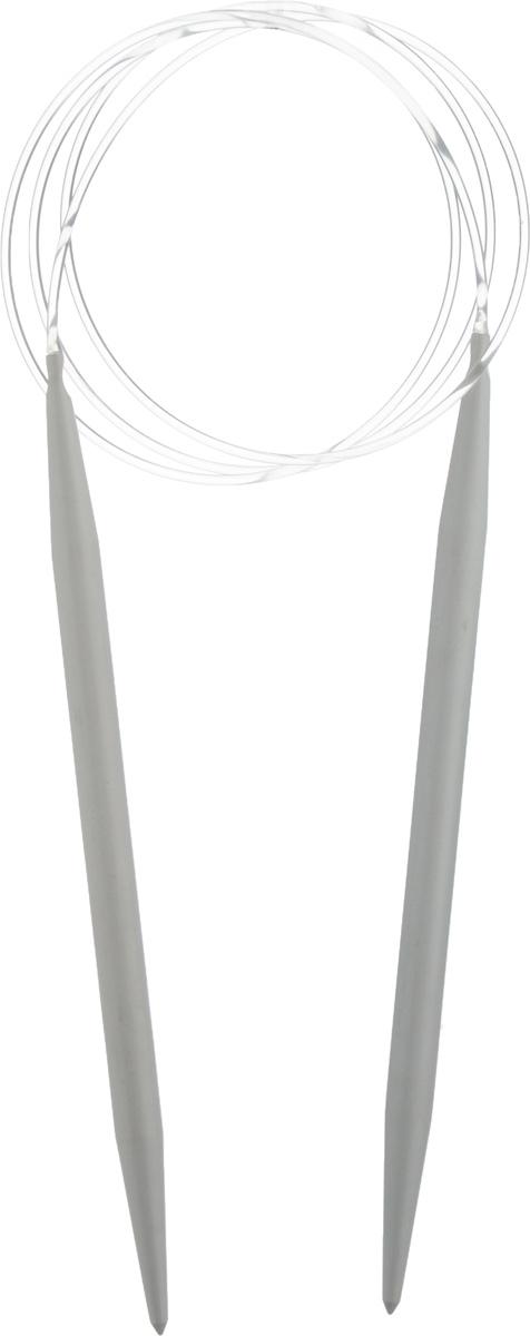 Спицы Pony, металлические, круговые, диаметр 7 мм, длина 100 см, 2 шт52215Спицы для вязания Pony, изготовленные из алюминия, имеют закругленные кончики и скреплены гибким пластиковым неснимаемым шнуром. Они прочные, легкие, гладкие, удобные в использовании. Круговые спицы наиболее удобны для выполнения деталей и изделий, не имеющих швов. Короткими круговыми спицами вяжут бейки горловины, воротники-гольф, длинными спицами можно вязать по кругу целые модели. Вы сможете вязать для себя, делать подарки друзьям. Рукоделие всегда считалось изысканным, благородным делом. Работа, сделанная своими руками, долго будет радовать вас и ваших близких.