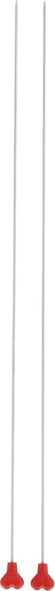 Спицы Addi, металлические, прямые, диаметр 2 мм, длина 40 см, 2 шт200-7/2-40Спицы для вязания Addi, изготовленные из алюминия, обладают прекрасными тактильными качествами и благородным серебристо-матовым цветом. На кончиках в качестве стопперов есть фирменный логотип Addi в виде сердечка, что придает изделию уникальный вид. Прямые спицы используются при плоском вязании отдельных деталей, которые впоследствии будут сшиты в цельное изделие. Вы сможете вязать для себя и делать подарки друзьям. Рукоделие всегда считалось изысканным, благородным делом. Работа, сделанная своими руками, долго будет радовать вас и ваших близких.