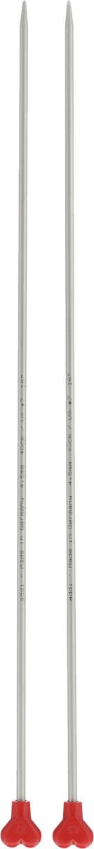 Спицы Addi, металлические, прямые, диаметр 4,5 мм, длина 40 см, 2 шт200-7/4.5-40Спицы для вязания Addi, изготовленные из алюминия, обладают прекрасными тактильными качествами и благородным серебристо-матовым цветом. На кончиках в качестве стопперов есть фирменный логотип Addi в виде сердечка, что придает спицам уникальный вид. Прямые спицы используются при плоском вязании отдельных деталей, которые впоследствии будут сшиты в цельное изделие. Вы сможете вязать для себя и делать подарки друзьям. Рукоделие всегда считалось изысканным, благородным делом. Работа, сделанная своими руками, долго будет радовать вас и ваших близких.