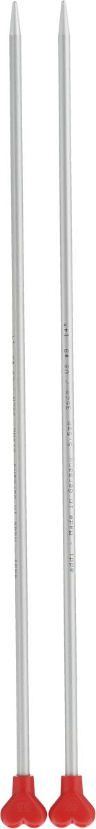 Спицы Addi, металлические, прямые, диаметр 5,5 мм, длина 35 см, 2 шт200-7/5.5-35Спицы для вязания Addi, изготовленные из алюминия, обладают прекрасными тактильными качествами и благородным серебристо-матовым цветом. На кончиках в качестве стопперов есть фирменный логотип Addi в виде сердечка, что придает спицам уникальный вид. Прямые спицы используются при плоском вязании отдельных деталей, которые впоследствии будут сшиты в цельное изделие. Вы сможете вязать для себя и делать подарки друзьям. Рукоделие всегда считалось изысканным, благородным делом. Работа, сделанная своими руками, долго будет радовать вас и ваших близких.