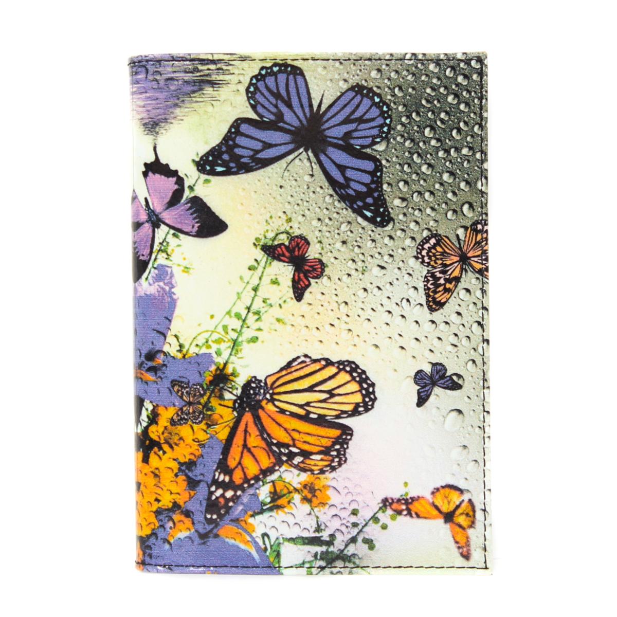 Обложка на паспорт жен. Flioraj, цвет: мультицвет. 0005095200050952Удобная и практичная обложка для документов. Уникальный аксессуар, декорированный качественным фотопринтом.