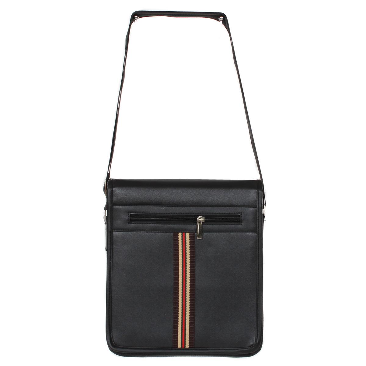 Сумка муж. Leighton, цвет: черный. 0005119500051195Закрывается декоративным клапаном на двух магнитах. Внутри одно отделение, один карман на молнии, один открытый карман. Снаружи один карман на молнии, один открытый карман.