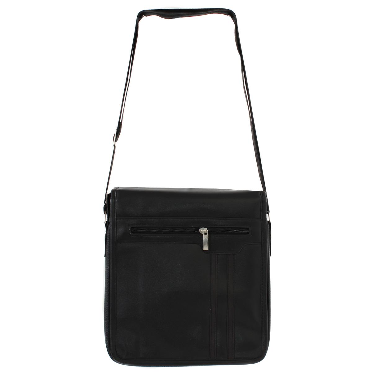 Сумка муж. Leighton, цвет: черный. 0005119800051198Закрывается декоративным клапаном на двух магнитах. Внутри одно отделение, один карман на молнии, один открытый карман. Снаружи один карман на молнии, один открытый карман.