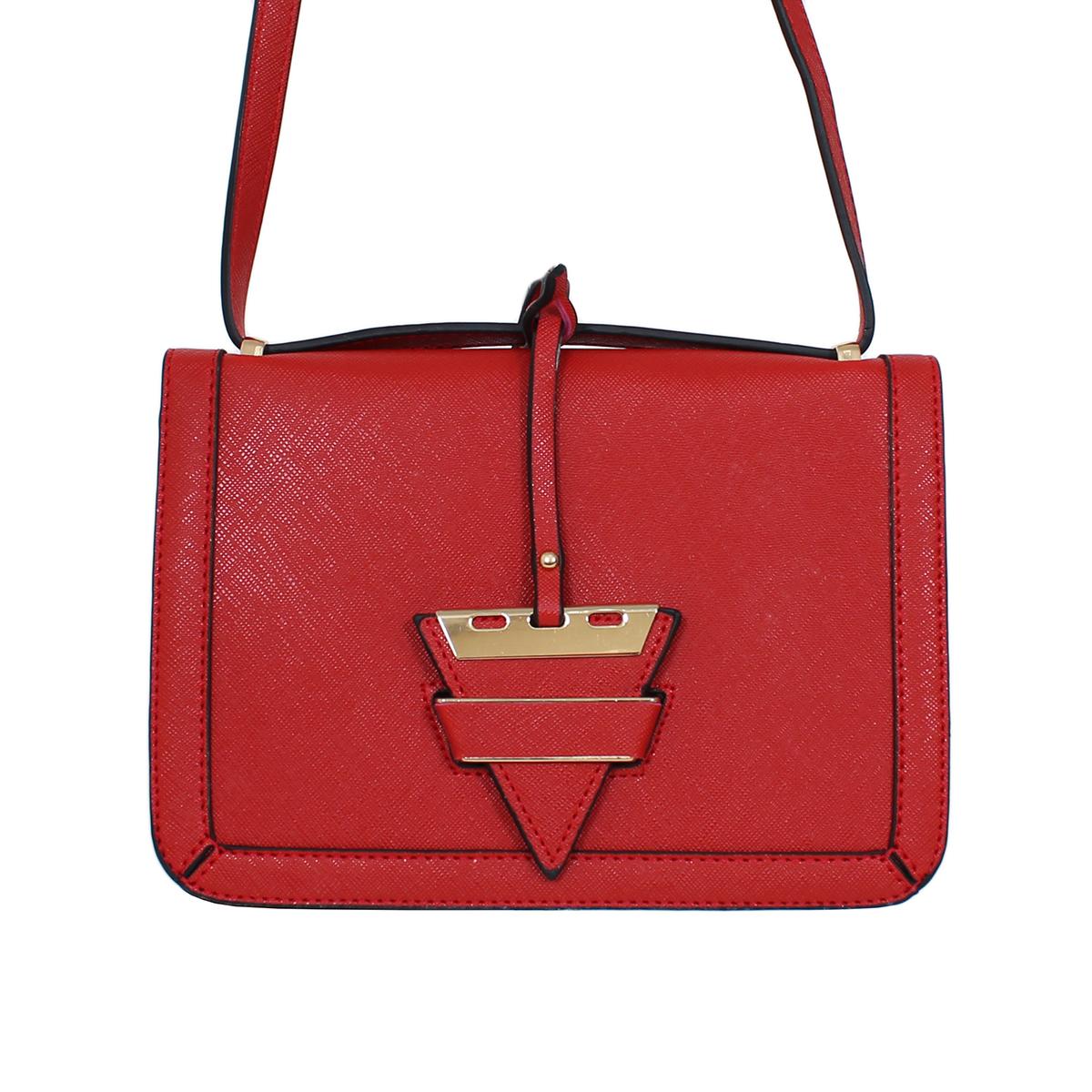 Сумка жен. Flioraj, цвет: красный. 0005163100051631Закрывается на декоратвную застежку. Внутри одно отделение, один открытый карман. Длинный ремень.