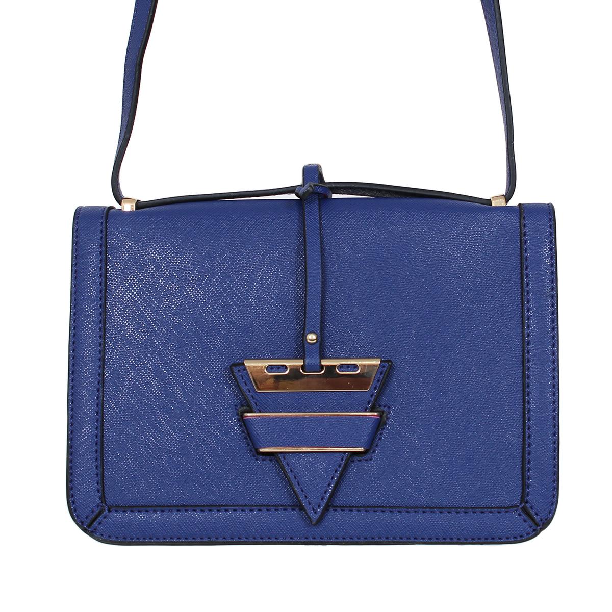 Сумка жен. Flioraj, цвет: синий. 0005163300051633Закрывается на декоратвную застежку. Внутри одно отделение, один открытый карман. Длинный ремень.