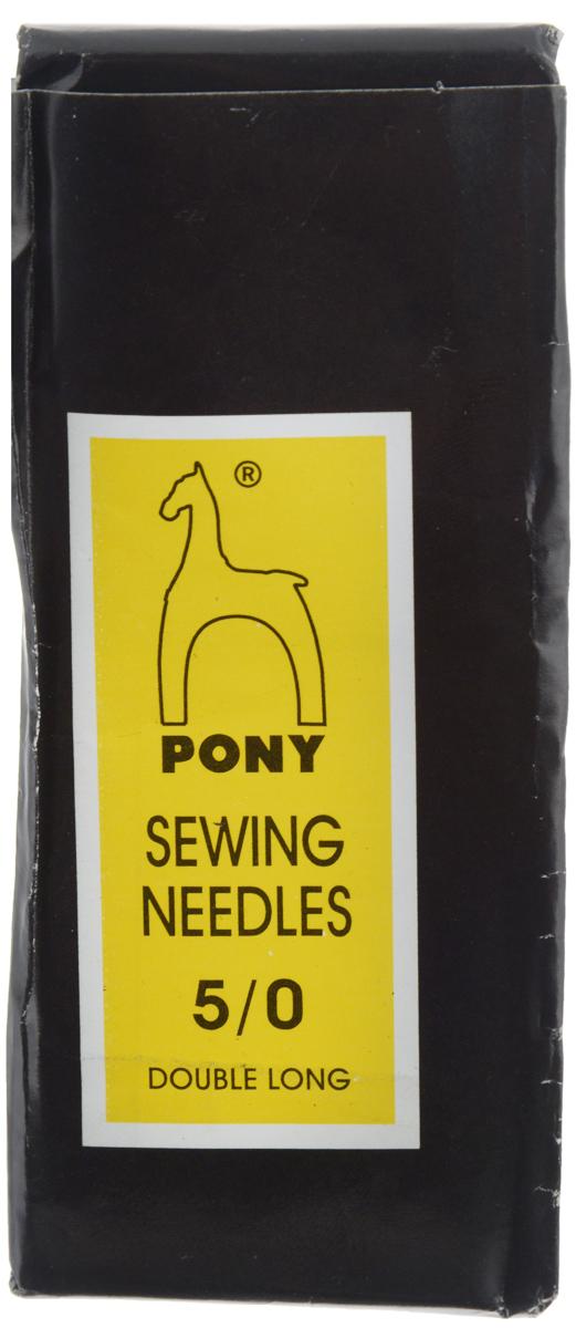 Иглы ручные Pony Long Darners, цыганка, с золотым ушком, №5/0, 25 шт08164Толстые ручные иглы Pony Long Darners, выполненные из стали, могут быть использованы при работе с кожей или толстыми тканями. Имеют закругленное острие и большое ушко золотого цвета, благодаря чему легко заправляются. Длина игл: 9,4 см. Размер игл: №5/0. Диаметр игл: 2,03 мм.