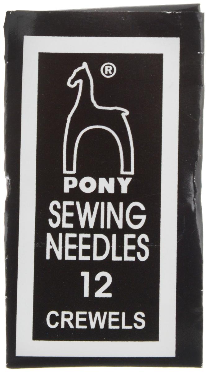Иглы ручные Pony Crewels, для вышивания и бисера, с золотым ушком, №12, 25 шт04162Иглы ручные Pony Crewels, выполненные из стали, могут быть использованы при работе с бисером, а также для большинства вышивальных работ. Имеют закругленное острие и большое ушко золотого цвета, благодаря чему легко заправляются. Длина игл: 2,9 см. Размер игл: №12. Диаметр игл: 0,35 мм.