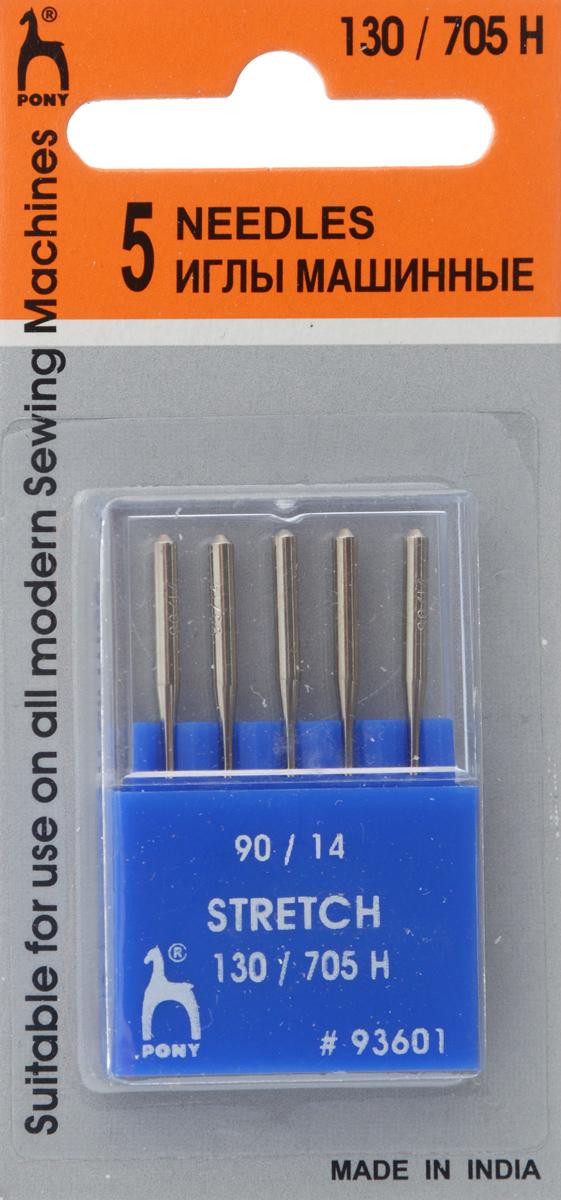 Иглы для швейных машин Pony, для стрейчевых тканей, №90, 5 шт93601Специальные иглы Pony, выполненные из высококачественной стали, подходят для бытовых швейных машин. В набор входят иглы, которые идеально подходят для работы с тканью стрейч. В комплекте пластиковый футляр для переноски и хранения. Размер: 90/14.