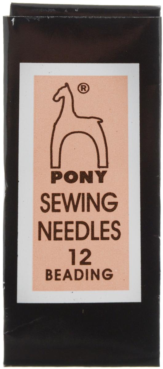 Иглы ручные Pony, для бисера, с золотым ушком, №12, 25 шт07153Иглы ручные Pony, выполненные из стали, могут быть использованы при работе с бисером, а также для большинства вышивальных работ. Имеют закругленное острие и большое ушко золотого цвета, благодаря чему легко заправляются. Размер игл: №12. Диаметр игл: 0,35 мм.