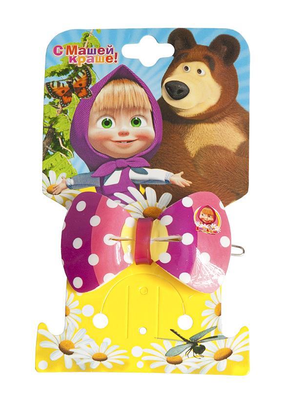 Маша и медведь Заколка Бант полосатый331038